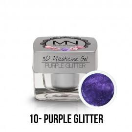 3D Plasticine Gel - 10 - Purple Glitter - 3,5g