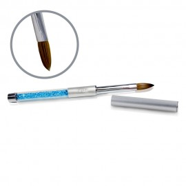 Kolinsky Silver Glamour Brush - Flat-peaked - #12