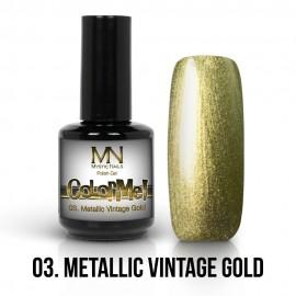 ColorMe! Metallic no.03. - Metallic Vintage Gold 12ml