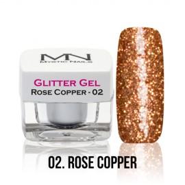 Glitter Gel - no.02. - Rose Copper - 4g