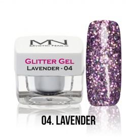 Glitter Gel - no.04. - Lavender - 4g