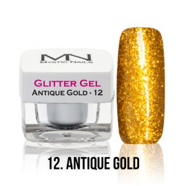 Glitter Gel - no.12. - Antique Gold - 4g