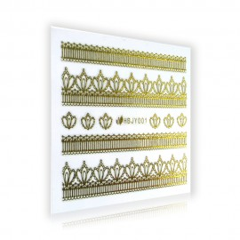 Gold Lace Sticker - HBJY001
