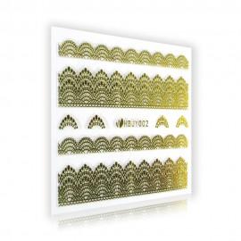 Gold Lace Sticker - HBJY002