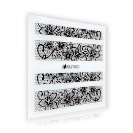 Black Lace Sticker - HBJY003