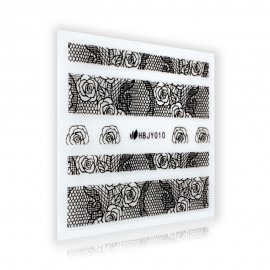 Black Lace Sticker - HBJY010