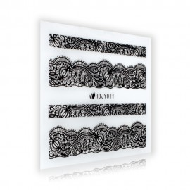 Black Lace Sticker - HBJY011