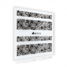 Black Lace Sticker - HBJY018