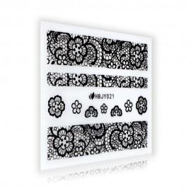 Black Lace Sticker - HBJY021