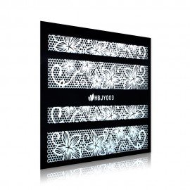 White Lace Sticker - HBJY003