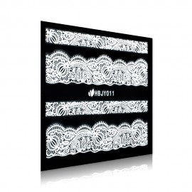 White Lace Sticker - HBJY011