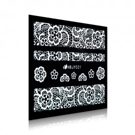 White Lace Sticker - HBJY021