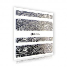 Silver Lace Sticker - HBJY006