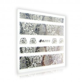 Silver Lace Sticker - HBJY010