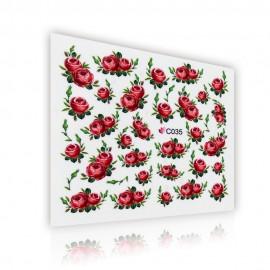 Flower pattern sticker - C035