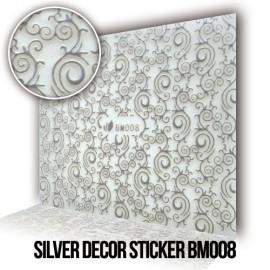 Silver Decor Sticker BM008