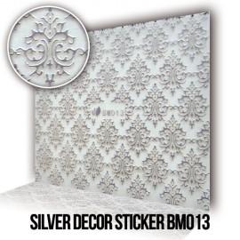 Silver Decor Sticker BM013