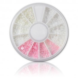 Bead Wheel - opal/pink