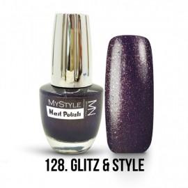 MyStyle Nail Polish - 128- Glitz & Style - 15ml