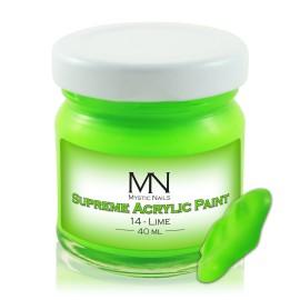 Supreme Acrylic Paint - no.14. Lime - 40 ml
