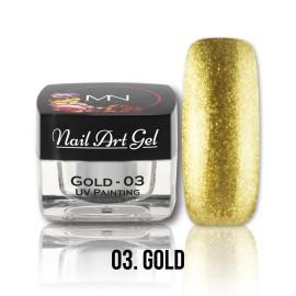 UV Painting Nail Art Gel - 03 - Gold