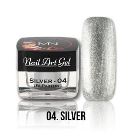 UV Painting Nail Art Gel - 04 - Silver