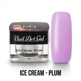 UV Painting Nail Art Gel - Ice Cream - Plum - 4g