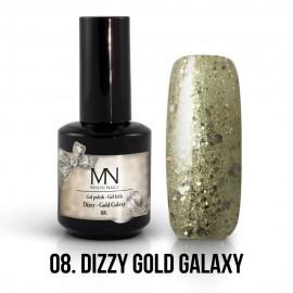 Gel Polish Dizzy no.08. - Dizzy Gold Galaxy 12ml