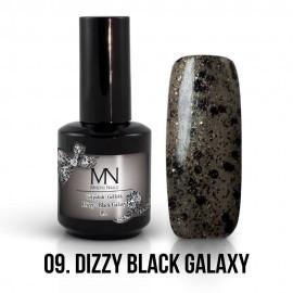 Gel Polish Dizzy no.09. - Dizzy Black Galaxy 12ml