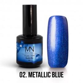Gel Polish Metallic no.02. - Metallic Blue 12ml