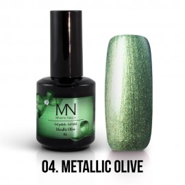 Gel Polish Metallic no.04. - Metallic Olive 8 ml