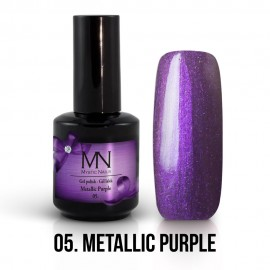 Gel Polish Metallic no.05. - Metallic Purple 12ml